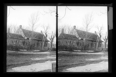 Daniel Berry Austin (American, born 1863, active 1899-1909). <em>Judge J. Lott's House, 47th Street and New Utrecht Road, Brooklyn</em>, ca. 1899-1909. Gelatin silver glass dry plate negative Brooklyn Museum, Brooklyn Museum/Brooklyn Public Library, Brooklyn Collection, 1996.164.1-152 (Photo: Brooklyn Museum, 1996.164.1-152_glass_SL1.jpg)