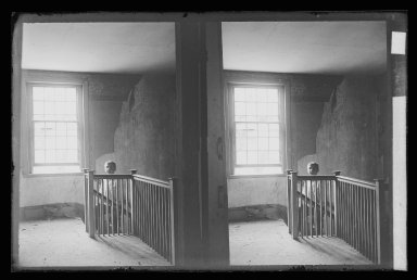 Daniel Berry Austin (American, born 1863, active 1899-1909). <em>J. Birdsall House, Stairway and Children, Flatbush Avenue opposite Fenimore Street, Flatbush, Brooklyn (Vacant)</em>, ca. 1899-1909. Gelatin silver glass dry plate negative Brooklyn Museum, Brooklyn Museum/Brooklyn Public Library, Brooklyn Collection, 1996.164.1-59 (Photo: Brooklyn Museum, 1996.164.1-59_IMLS_SL2.jpg)
