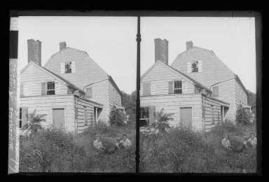 Daniel Berry Austin (American, born 1863, active 1899-1909). <em>J. Birdsall House, West Gable, Road and Children, Flatbush opposite Fenimore Street, Flatbush, Brooklyn</em>, ca. 1899-1909. Gelatin silver glass dry plate negative Brooklyn Museum, Brooklyn Museum/Brooklyn Public Library, Brooklyn Collection, 1996.164.1-61 (Photo: Brooklyn Museum, 1996.164.1-61_IMLS_SL2.jpg)