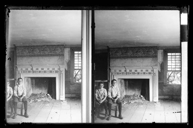 Daniel Berry Austin (American, born 1863, active 1899-1909). <em>J. Birdsall House, East Front Bedroom, Flatbush opposite Fenimore Street, Flatbush, Brooklyn</em>, ca. 1899-1909. Gelatin silver glass dry plate negative Brooklyn Museum, Brooklyn Museum/Brooklyn Public Library, Brooklyn Collection, 1996.164.1-62 (Photo: Brooklyn Museum, 1996.164.1-62_IMLS_SL2.jpg)
