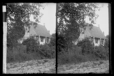 Daniel Berry Austin (American, born 1863, active 1899-1909). <em>DeNyse Van Dyne House, Front Gable West, New Utrecht Road, 19th and 17th and 18th Avenues, Brooklyn</em>, ca. 1899-1909. Gelatin silver glass dry plate negative Brooklyn Museum, Brooklyn Museum/Brooklyn Public Library, Brooklyn Collection, 1996.164.1-68 (Photo: Brooklyn Museum, 1996.164.1-68_IMLS_SL2.jpg)