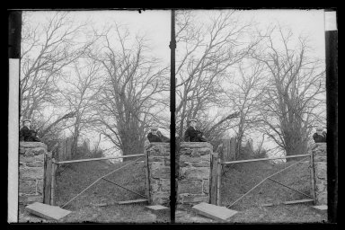 Daniel Berry Austin (American, born 1863, active 1899-1909). <em>Hunt's Lane, Ralph and Marshall, Rustic Gable, Looking South East, Foot 62 Street, Bay Ridge, Brooklyn</em>, ca. 1899-1909. Gelatin silver glass dry plate negative Brooklyn Museum, Brooklyn Museum/Brooklyn Public Library, Brooklyn Collection, 1996.164.1-71 (Photo: Brooklyn Museum, 1996.164.1-71_IMLS_SL2.jpg)