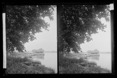 Daniel Berry Austin (American, born 1863, active 1899-1909). <em>Ryder's Pond (Strome Kill) and Dock Looking North, Gravesend, Avenue T and Marsh Street, Brooklyn</em>, ca. 1899-1909. Gelatin silver glass dry plate negative Brooklyn Museum, Brooklyn Museum/Brooklyn Public Library, Brooklyn Collection, 1996.164.1-74 (Photo: Brooklyn Museum, 1996.164.1-74_IMLS_SL2.jpg)