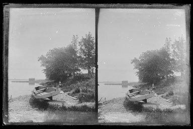 Daniel Berry Austin (American, born 1863, active 1899-1909). <em>Ryder's Pond (Strome Kill) and Dock Looking South, Gravesend, Avenue T and Marsh Street, Brooklyn</em>, ca. 1899-1909. Gelatin silver glass dry plate negative Brooklyn Museum, Brooklyn Museum/Brooklyn Public Library, Brooklyn Collection, 1996.164.1-75 (Photo: Brooklyn Museum, 1996.164.1-75_IMLS_SL2.jpg)