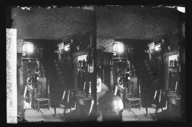 Daniel Berry Austin (American, born 1863, active 1899-1909). <em>Rem Lefferts House, Interior, Fulton Street opposite Arlington Place near Bedford, Brooklyn</em>, ca. 1899-1909. Gelatin silver glass dry plate negative Brooklyn Museum, Brooklyn Museum/Brooklyn Public Library, Brooklyn Collection, 1996.164.1-8 (Photo: Brooklyn Museum, 1996.164.1-8_IMLS_SL2.jpg)