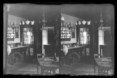 Daniel Berry Austin (American, born 1863, active 1899-1909). <em>Rem Lefferts House, Interior, Fulton Street opposite Arlington Place near Bedford, Brooklyn</em>, ca. 1899-1909. Gelatin silver glass dry plate negative Brooklyn Museum, Brooklyn Museum/Brooklyn Public Library, Brooklyn Collection, 1996.164.1-9 (Photo: Brooklyn Museum, 1996.164.1-9_IMLS_SL2.jpg)