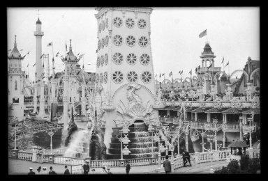 Eugene Wemlinger. <em>Luna Park</em>, 1908. Cellulose nitrate negative Brooklyn Museum, Brooklyn Museum/Brooklyn Public Library, Brooklyn Collection, 1996.164.10-17 (Photo: Brooklyn Museum, 1996.164.10-17_IMLS_SL2.jpg)