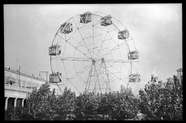 Eugene Wemlinger. <em>Ferris Wheel, Coney Island</em>, 1910. Cellulose nitrate negative Brooklyn Museum, Brooklyn Museum/Brooklyn Public Library, Brooklyn Collection, 1996.164.10-24 (Photo: Brooklyn Museum, 1996.164.10-24_IMLS_SL2.jpg)