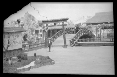 Eugene Wemlinger. <em>Japanese Village, Luna Park</em>, 1903. Cellulose nitrate negative Brooklyn Museum, Brooklyn Museum/Brooklyn Public Library, Brooklyn Collection, 1996.164.10-2 (Photo: Brooklyn Museum, 1996.164.10-2_IMLS_SL2.jpg)