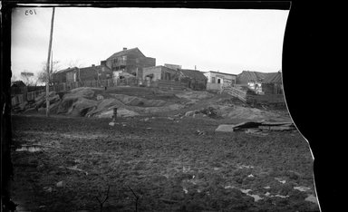 George Bradford Brainerd (American, 1845-1887). <em>Shanties, Southampton, Long Island</em>, ca. 1872-1887. Collodion silver glass wet plate negative Brooklyn Museum, Brooklyn Museum/Brooklyn Public Library, Brooklyn Collection, 1996.164.2-103 (Photo: Brooklyn Museum, 1996.164.2-103_glass_bw_SL4.jpg)