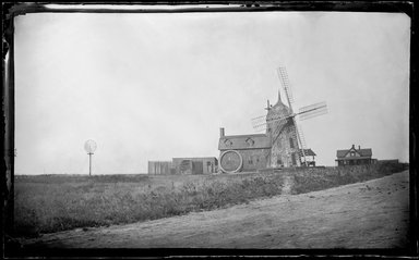 George Bradford Brainerd (American, 1845-1887). <em>Good Ground Mill, Southampton, Long Island</em>, ca. 1872-1887. Collodion silver glass wet plate negative Brooklyn Museum, Brooklyn Museum/Brooklyn Public Library, Brooklyn Collection, 1996.164.2-104 (Photo: Brooklyn Museum, 1996.164.2-104_glass_bw_SL1.jpg)