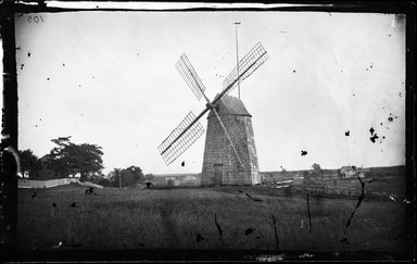 George Bradford Brainerd (American, 1845-1887). <em>Mill, Easthampton, Long Island</em>, ca. 1872-1887. Collodion silver glass wet plate negative Brooklyn Museum, Brooklyn Museum/Brooklyn Public Library, Brooklyn Collection, 1996.164.2-105 (Photo: Brooklyn Museum, 1996.164.2-105_glass_bw_SL4.jpg)