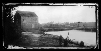 George Bradford Brainerd (American, 1845-1887). <em>Mill on Inlet, Mattituck, Long Island</em>, ca. 1872-1887. Collodion silver glass wet plate negative Brooklyn Museum, Brooklyn Museum/Brooklyn Public Library, Brooklyn Collection, 1996.164.2-1083 (Photo: Brooklyn Museum, 1996.164.2-1083_SL1.jpg)