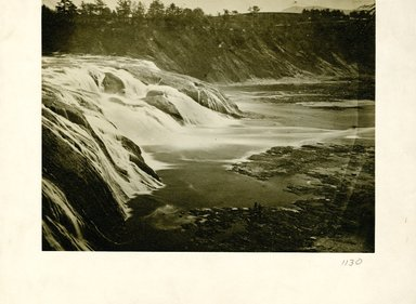 George Bradford Brainerd (American, 1845-1887). <em>Cohoes Falls Looking Sideways, New York</em>, ca. 1872-1887. Collodion silver glass wet plate negative Brooklyn Museum, Brooklyn Museum/Brooklyn Public Library, Brooklyn Collection, 1996.164.2-1130 (Photo: Brooklyn Museum, 1996.164.2-1130_print.jpg)