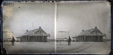 George Bradford Brainerd (American, 1845-1887). <em>The Tilyou House, Coney Island</em>, November 30, 1874. Collodion silver glass wet plate negative, 3 1/4 x 6 3/4 in. (8.3 x 17.1 cm). Brooklyn Museum, Brooklyn Museum/Brooklyn Public Library, Brooklyn Collection, 1996.164.2-1136 (Photo: Brooklyn Museum, 1996.164.2-1136_glass_SL1.jpg)