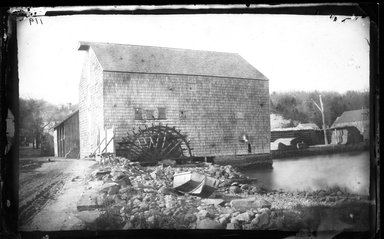 George Bradford Brainerd (American, 1845-1887). <em>Tide Mill, Huntington, Long Island</em>, ca. 1872-1887. Collodion silver glass wet plate negative Brooklyn Museum, Brooklyn Museum/Brooklyn Public Library, Brooklyn Collection, 1996.164.2-119 (Photo: Brooklyn Museum, 1996.164.2-119_glass_bw_SL4.jpg)