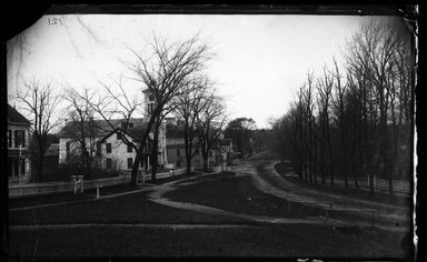 George Bradford Brainerd (American, 1845-1887). <em>Street, Huntington, Long Island</em>, May 1907. Collodion silver glass wet plate negative Brooklyn Museum, Brooklyn Museum/Brooklyn Public Library, Brooklyn Collection, 1996.164.2-121 (Photo: Brooklyn Museum, 1996.164.2-121_glass_bw_SL4.jpg)