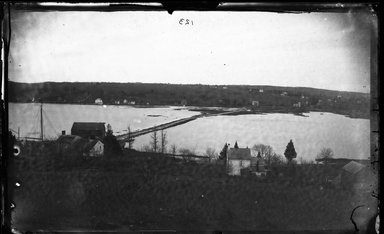 George Bradford Brainerd (American, 1845-1887). <em>Dam, Upper Bay, Huntington, Long Island</em>, ca. 1872-1887. Collodion silver glass wet plate negative Brooklyn Museum, Brooklyn Museum/Brooklyn Public Library, Brooklyn Collection, 1996.164.2-123 (Photo: Brooklyn Museum, 1996.164.2-123_glass_bw_SL4.jpg)