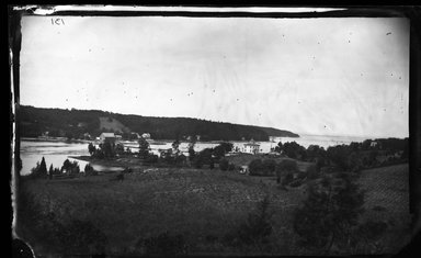 George Bradford Brainerd (American, 1845-1887). <em>Harbor from Hill, Centerport, Long Island</em>, ca. 1872-1887. Collodion silver glass wet plate negative Brooklyn Museum, Brooklyn Museum/Brooklyn Public Library, Brooklyn Collection, 1996.164.2-131 (Photo: Brooklyn Museum, 1996.164.2-131_glass_bw_SL4.jpg)