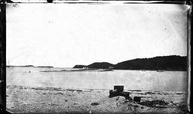 George Bradford Brainerd (American, 1845-1887). <em>Bar at Centerport Harbor, Long Island</em>, ca. 1872-1887. Collodion silver glass wet plate negative Brooklyn Museum, Brooklyn Museum/Brooklyn Public Library, Brooklyn Collection, 1996.164.2-132 (Photo: Brooklyn Museum, 1996.164.2-132_glass_bw_SL4.jpg)