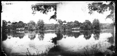 George Bradford Brainerd (American, 1845-1887). <em>1st Pond on Pine Stream</em>, June 28, 1874. Collodion silver glass wet plate negative Brooklyn Museum, Brooklyn Museum/Brooklyn Public Library, Brooklyn Collection, 1996.164.2-1342 (Photo: Brooklyn Museum, 1996.164.2-1342_glass_bw_SL4.jpg)