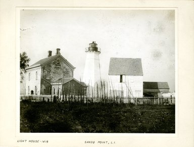 George Bradford Brainerd (American, 1845-1887). <em>Light House, Sand's Point, Long Island</em>, ca. 1872-1887. Collodion silver glass wet plate negative Brooklyn Museum, Brooklyn Museum/Brooklyn Public Library, Brooklyn Collection, 1996.164.2-1416 (Photo: Brooklyn Museum, 1996.164.2-1416_print.jpg)