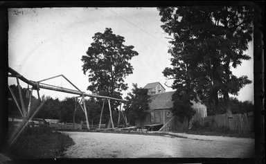 George Bradford Brainerd (American, 1845-1887). <em>Little Mill, Centerport, Long Island</em>, ca. 1872-1887. Collodion silver glass wet plate negative Brooklyn Museum, Brooklyn Museum/Brooklyn Public Library, Brooklyn Collection, 1996.164.2-142 (Photo: Brooklyn Museum, 1996.164.2-142_glass_bw_SL4.jpg)