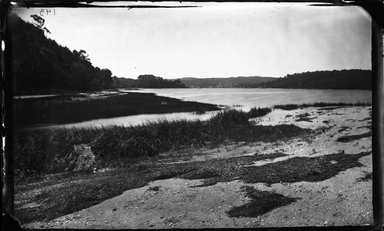 George Bradford Brainerd (American, 1845-1887). <em>Centerport Harbor from Bar, Centerport, Long Island</em>, ca. 1872-1887. Collodion silver glass wet plate negative Brooklyn Museum, Brooklyn Museum/Brooklyn Public Library, Brooklyn Collection, 1996.164.2-143 (Photo: Brooklyn Museum, 1996.164.2-143_glass_bw_SL4.jpg)