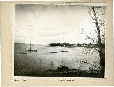 George Bradford Brainerd (American, 1845-1887). <em>Harbor, West from Highway, Port Washington, Long Island</em>, ca. 1872-1887. Collodion silver glass wet plate negative Brooklyn Museum, Brooklyn Museum/Brooklyn Public Library, Brooklyn Collection, 1996.164.2-1505 (Photo: Brooklyn Museum, 1996.164.2-1505_print.jpg)