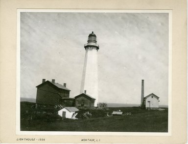 George Bradford Brainerd (American, 1845-1887). <em>Lighthouse, Montauk, Long Island</em>, ca. 1872-1887. Collodion silver glass wet plate negative Brooklyn Museum, Brooklyn Museum/Brooklyn Public Library, Brooklyn Collection, 1996.164.2-1506 (Photo: Brooklyn Museum, 1996.164.2-1506_print.jpg)