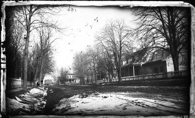 George Bradford Brainerd (American, 1845-1887). <em>Leffert House, Flatbush, Brooklyn</em>, ca. 1872-1887. Collodion silver glass wet plate negative Brooklyn Museum, Brooklyn Museum/Brooklyn Public Library, Brooklyn Collection, 1996.164.2-150 (Photo: Brooklyn Museum, 1996.164.2-150_glass_bw_SL4.jpg)