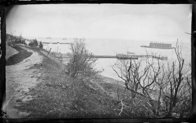 George Bradford Brainerd (American, 1845-1887). <em>Fort Lafayette, Flatbush, Brooklyn</em>, ca. 1872-1887. Collodion silver glass wet plate negative Brooklyn Museum, Brooklyn Museum/Brooklyn Public Library, Brooklyn Collection, 1996.164.2-154 (Photo: Brooklyn Museum, 1996.164.2-154_glass_IMLS_SL2.jpg)