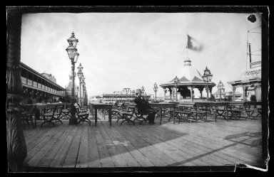 George Bradford Brainerd (American, 1845-1887). <em>Cables and Iron Cow, Coney Island, Brooklyn</em>, ca. 1872-1887. Collodion silver glass wet plate negative Brooklyn Museum, Brooklyn Museum/Brooklyn Public Library, Brooklyn Collection, 1996.164.2-158 (Photo: Brooklyn Museum, 1996.164.2-158_glass_IMLS_SL2.jpg)