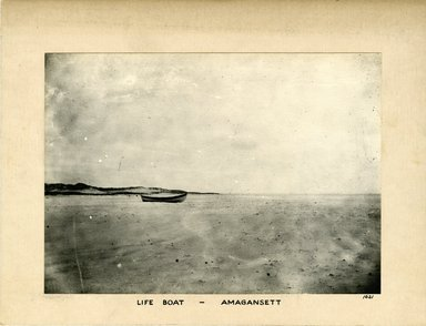 George Bradford Brainerd (American, 1845-1887). <em>Life Boat, Amagansett, Long Island</em>, ca. 1872-1887. Collodion silver glass wet plate negative Brooklyn Museum, Brooklyn Museum/Brooklyn Public Library, Brooklyn Collection, 1996.164.2-1621 (Photo: Brooklyn Museum, 1996.164.2-1621_print.jpg)