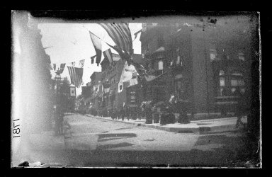 George Bradford Brainerd (American, 1845-1887). <em>Columbia Street, Brooklyn</em>, ca. 1872-1887. Collodion silver glass wet plate negative Brooklyn Museum, Brooklyn Museum/Brooklyn Public Library, Brooklyn Collection, 1996.164.2-1781 (Photo: Brooklyn Museum, 1996.164.2-1781_glass_IMLS_SL2.jpg)