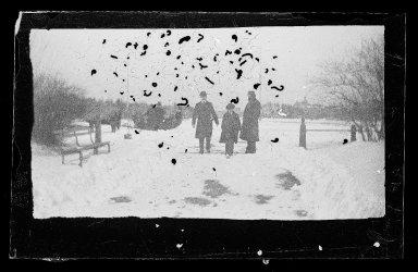 George Bradford Brainerd (American, 1845-1887). <em>Entrance to Prospect Park, Brooklyn</em>, ca. 1872-1887. Collodion silver glass wet plate negative Brooklyn Museum, Brooklyn Museum/Brooklyn Public Library, Brooklyn Collection, 1996.164.2-1813 (Photo: Brooklyn Museum, 1996.164.2-1813_glass_IMLS_SL2.jpg)