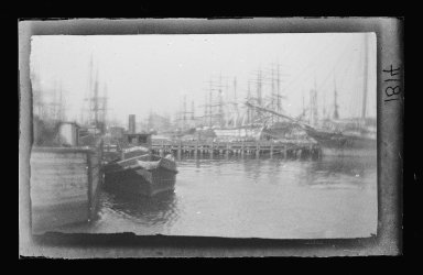 George Bradford Brainerd (American, 1845-1887). <em>Atlantic Dock, Brooklyn</em>, ca. 1872-1887. Collodion silver glass wet plate negative Brooklyn Museum, Brooklyn Museum/Brooklyn Public Library, Brooklyn Collection, 1996.164.2-1814 (Photo: Brooklyn Museum, 1996.164.2-1814_glass_IMLS_SL2.jpg)
