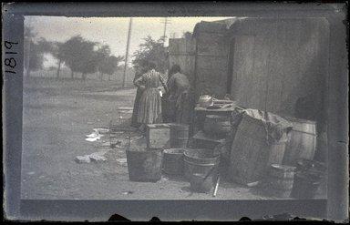 George Bradford Brainerd (American, 1845-1887). <em>Shanties, 4th Avenue, Brooklyn</em>. Brooklyn Museum, Brooklyn Museum/Brooklyn Public Library, Brooklyn Collection, 1996.164.2-1819 (Photo: Brooklyn Museum, 1996.164.2-1819_glass_SL1.jpg)