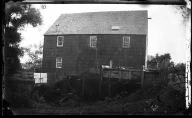 George Bradford Brainerd (American, 1845-1887). <em>Mill, Patchogue, Long Island</em>, ca. 1872-1887. Collodion silver glass wet plate negative Brooklyn Museum, Brooklyn Museum/Brooklyn Public Library, Brooklyn Collection, 1996.164.2-18 (Photo: Brooklyn Museum, 1996.164.2-18_glass_bw_SL4.jpg)