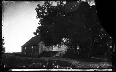 George Bradford Brainerd (American, 1845-1887). <em>Grist Mill, Moriches, Long Island</em>, ca. 1872-1887. Collodion silver glass wet plate negative Brooklyn Museum, Brooklyn Museum/Brooklyn Public Library, Brooklyn Collection, 1996.164.2-1 (Photo: Brooklyn Museum, 1996.164.2-1_glass_bw_SL4.jpg)