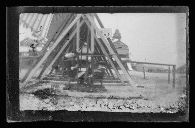 George Bradford Brainerd (American, 1845-1887). <em>Swings, Coney Island, Brooklyn</em>, ca. 1885. Dry negative plate Brooklyn Museum, Brooklyn Museum/Brooklyn Public Library, Brooklyn Collection, 1996.164.2-2114 (Photo: Brooklyn Museum, 1996.164.2-2114_glass_IMLS_SL2.jpg)