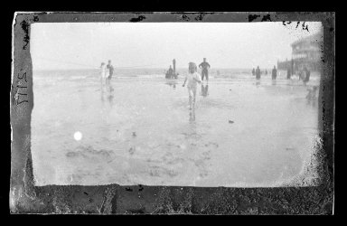 George Bradford Brainerd (American, 1845-1887). <em>Little Wader, Coney Island, Brooklyn</em>, ca. 1885. Dry negative plate Brooklyn Museum, Brooklyn Museum/Brooklyn Public Library, Brooklyn Collection, 1996.164.2-2117 (Photo: Brooklyn Museum, 1996.164.2-2117_glass_IMLS_SL2.jpg)