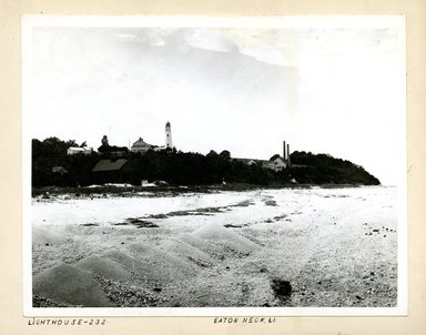 George Bradford Brainerd (American, 1845-1887). <em>Lighthouse, Eaton Neck, Long Island</em>, 1880. Collodion silver glass wet plate negative Brooklyn Museum, Brooklyn Museum/Brooklyn Public Library, Brooklyn Collection, 1996.164.2-232 (Photo: Brooklyn Museum, 1996.164.2-232_print.jpg)