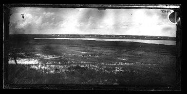 George Bradford Brainerd (American, 1845-1887). <em>Beach and Shack</em>, ca. 1872-1887. Dry negative plate Brooklyn Museum, Brooklyn Museum/Brooklyn Public Library, Brooklyn Collection, 1996.164.2-2406 (Photo: Brooklyn Museum, 1996.164.2-2406_bw_SL4.jpg)