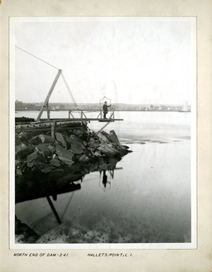 George Bradford Brainerd (American, 1845-1887). <em>North End of Dam, Hallet's Point, Long Island</em>, 1880. Collodion silver glass wet plate negative Brooklyn Museum, Brooklyn Museum/Brooklyn Public Library, Brooklyn Collection, 1996.164.2-241 (Photo: Brooklyn Museum, 1996.164.2-241.jpg)