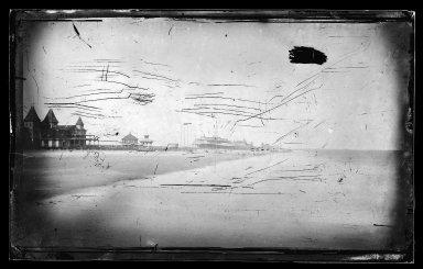 George Bradford Brainerd (American, 1845-1887). <em>East from Little Pier, Coney Island, Brooklyn</em>, ca. 1872-1887. Collodion silver glass wet plate negative Brooklyn Museum, Brooklyn Museum/Brooklyn Public Library, Brooklyn Collection, 1996.164.2-271 (Photo: Brooklyn Museum, 1996.164.2-271_glass_IMLS_SL2.jpg)