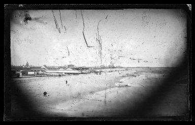 George Bradford Brainerd (American, 1845-1887). <em>East from Iron Pier, Coney Island, Brooklyn</em>, ca. 1872-1887. Collodion silver glass wet plate negative Brooklyn Museum, Brooklyn Museum/Brooklyn Public Library, Brooklyn Collection, 1996.164.2-274 (Photo: Brooklyn Museum, 1996.164.2-274_glass_IMLS_SL2.jpg)