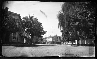 George Bradford Brainerd (American, 1845-1887). <em>Street, Hempstead, Long Island</em>, ca. 1872-1878. Collodion silver glass wet plate negative Brooklyn Museum, Brooklyn Museum/Brooklyn Public Library, Brooklyn Collection, 1996.164.2-28 (Photo: Brooklyn Museum, 1996.164.2-28_glass_bw_SL4.jpg)