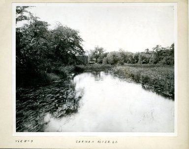 George Bradford Brainerd (American, 1845-1887). <em>Carmen River at South Haven, Long Island</em>, ca. 1872-1887. Collodion silver glass wet plate negative Brooklyn Museum, Brooklyn Museum/Brooklyn Public Library, Brooklyn Collection, 1996.164.2-3 (Photo: Brooklyn Museum, 1996.164.2-3.jpg)