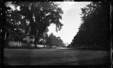 George Bradford Brainerd (American, 1845-1887). <em>Street, Hempstead, Long Island</em>, ca. 1872-1887. Collodion silver glass wet plate negative Brooklyn Museum, Brooklyn Museum/Brooklyn Public Library, Brooklyn Collection, 1996.164.2-30 (Photo: Brooklyn Museum, 1996.164.2-30_glass_bw_SL4.jpg)